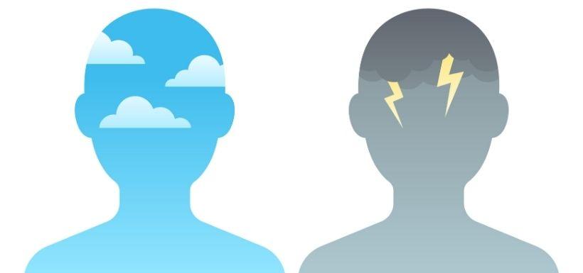 Illustration : 2 personnes qui sont d'humeur différentes